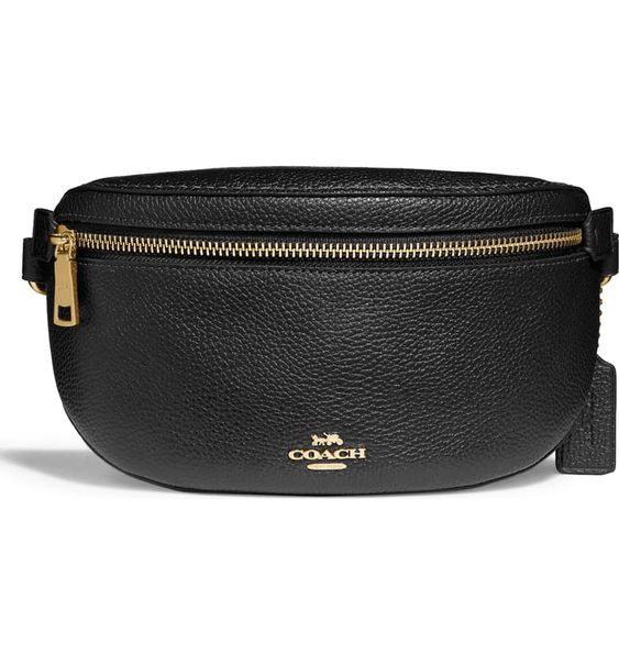 Pebbled Leather Belt Bag COACH