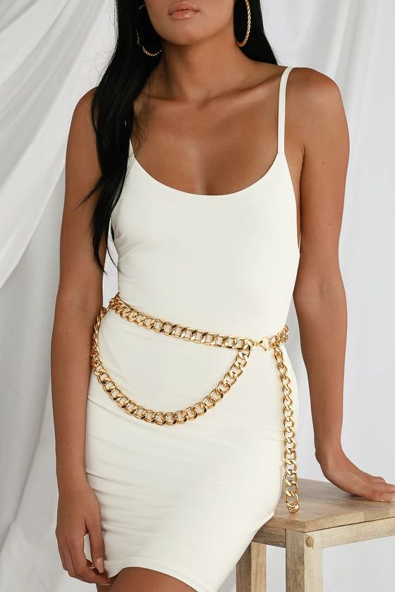 NATALEE GOLD CHAIN LAYERED BELT