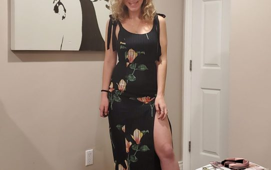 Forever Charming Black Floral Print Tie-Strap Midi Dress