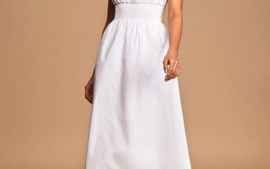 Simplicity is Best White Sleeveless Midi Dress
