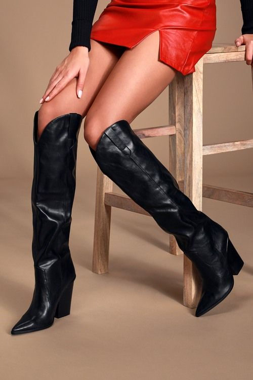 Ranger Black Western Knee-High Boots