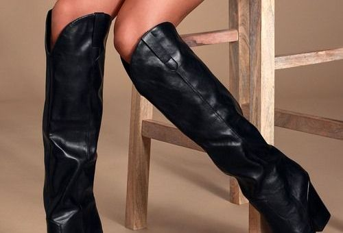 Ranger Black Western Knee-High Boots