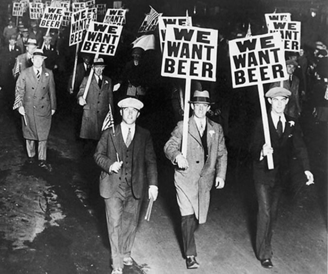 First Day Prohibition Alcohol 1920s