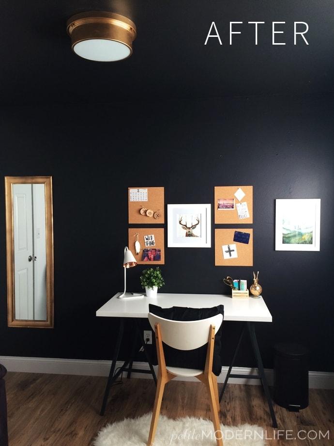 Black White Gold Office Reveal Petite Modern Life