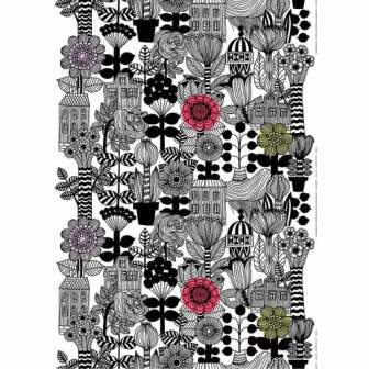 marimekko-lintukoto-white-black-yellow-cotton-fabric-3