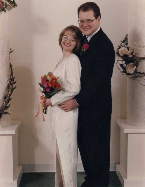 1996 - My wedding day! At the Mall of America in the Chapel of Love. We were poor church mice and we eloped.