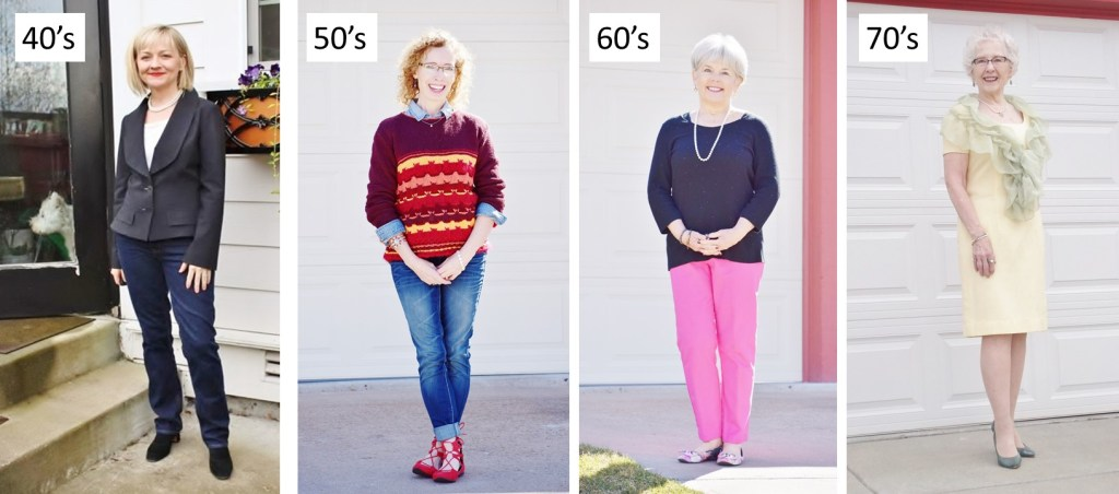 4 women ages 40 to 70 style pearls in a modern way.