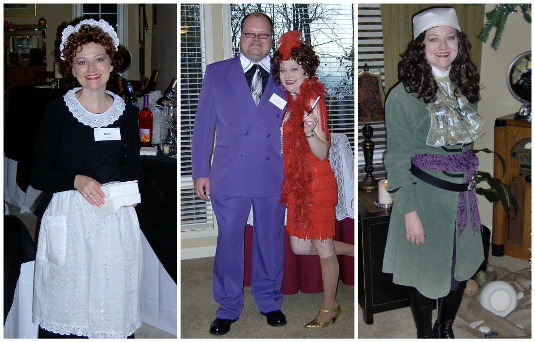 Costumes for murder mystery parties.
