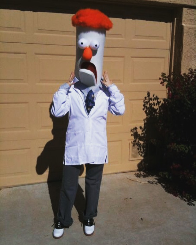 Homemade DIY Beaker Muppet Costume