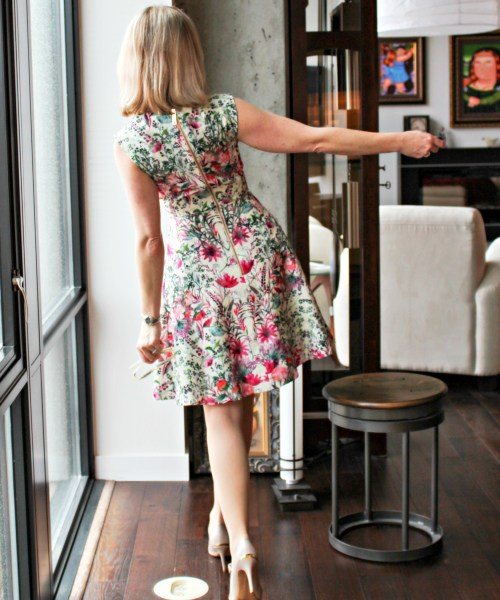 April in Paris style in a fit-and-flare dress