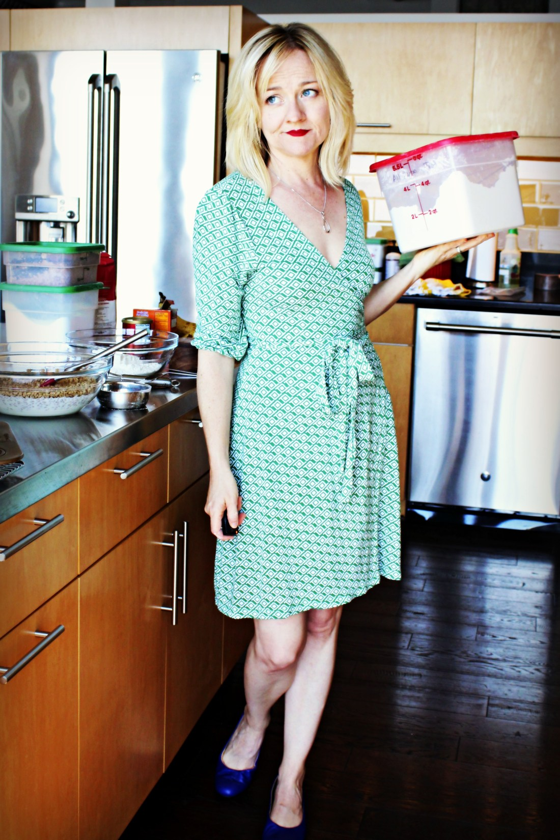 green old navy wrap dress