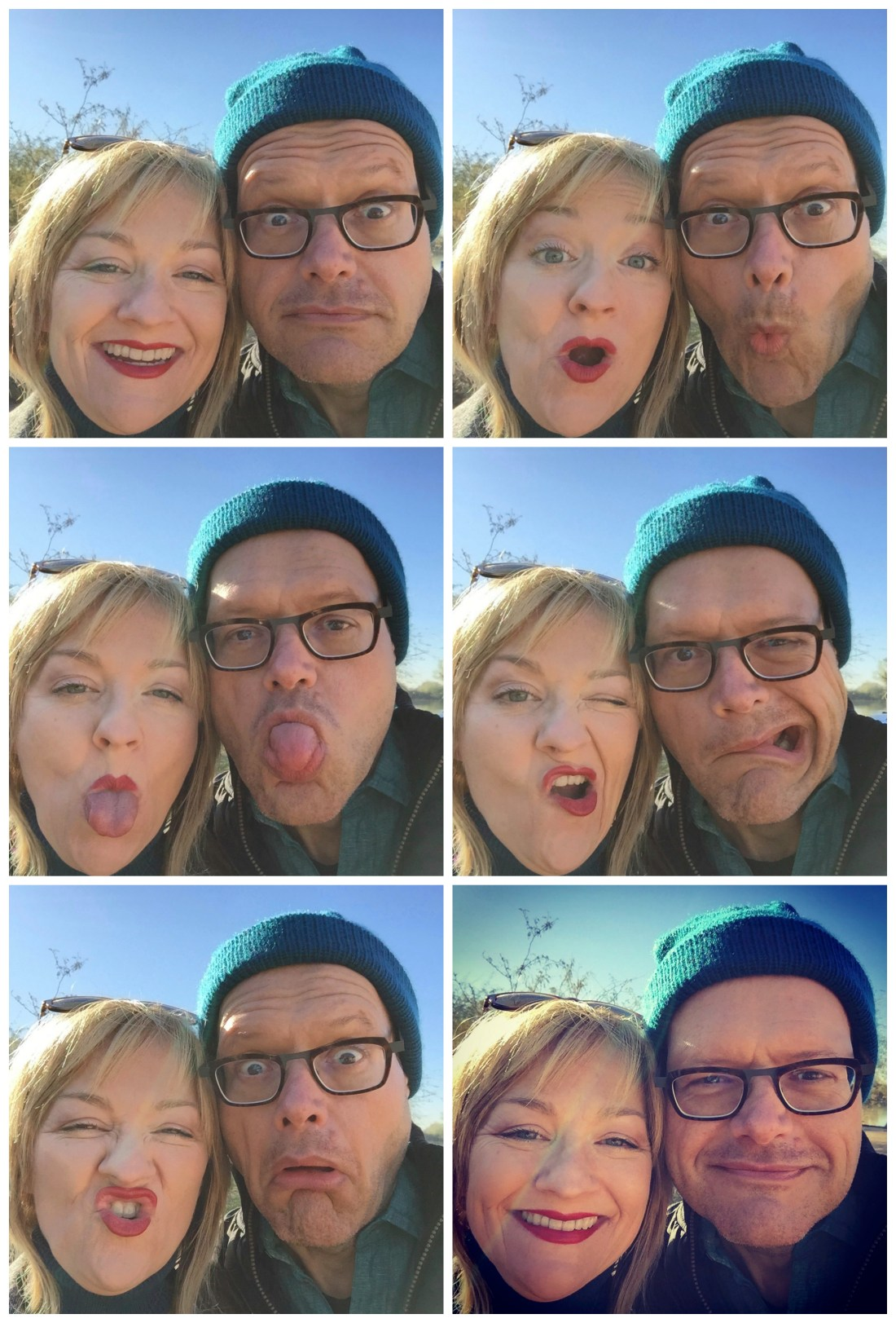 Silly selfie photo booth photos at the Riparian Preserve in Gilbert, AZ