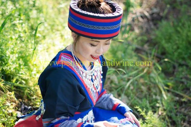 km-03200 Hmong Outfit:: Batik & Silver DIY OUTFITS