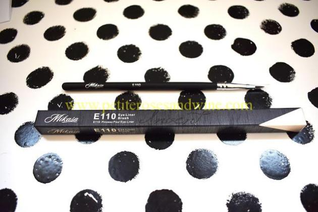 MikasaE110EyeLinerBrush Mikasa Beauty Brushes:: Complete Eye Set & Lemon Drop Review MAKEUP