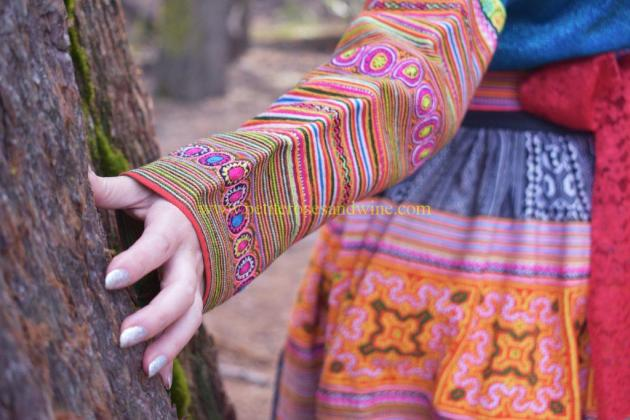 DSC_0090-edit-1024x683 Hmong Outfit Series :: Colorful Appliqué & Flower Hmong Hmong Outfit Series