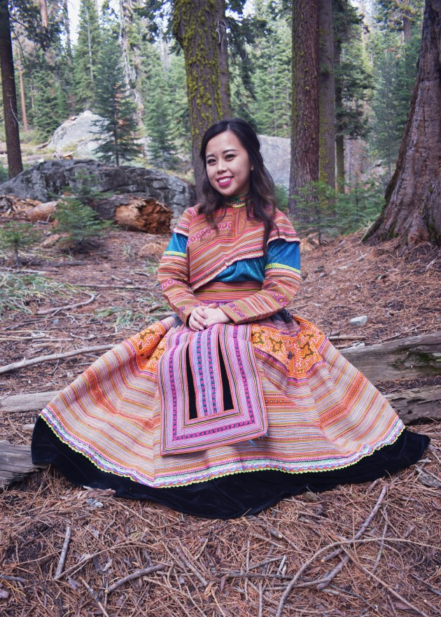 DSC_0141edit-732x1024 Hmong Outfit Series :: Colorful Appliqué & Flower Hmong Hmong Outfit Series