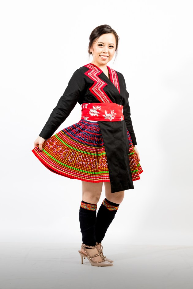 A2A0611-683x1024 Hmong Outfit :: Red Appliqué & Zig Zags DIY HMONG Hmong Outfit Series