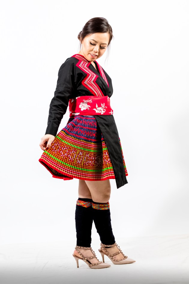A2A0653-683x1024 Hmong Outfit :: Red Appliqué & Zig Zags DIY HMONG Hmong Outfit Series