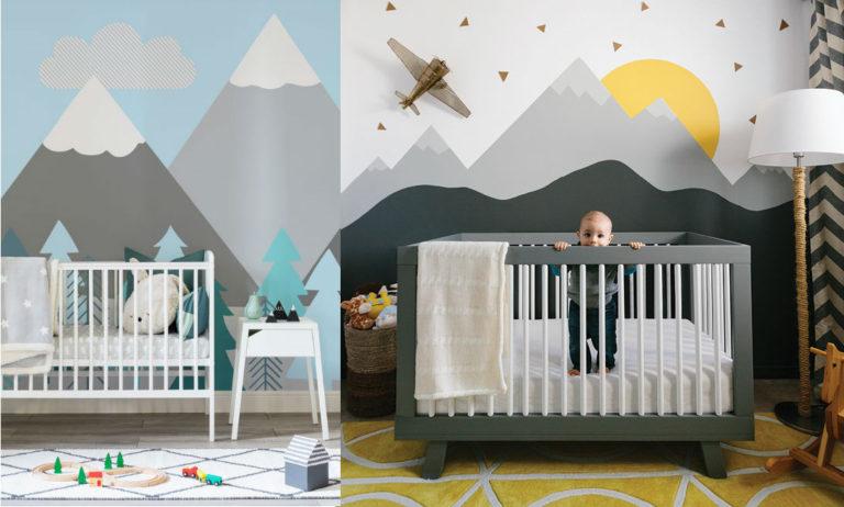 DIY Déco Murale Montagne dans la Chambre de Bébé