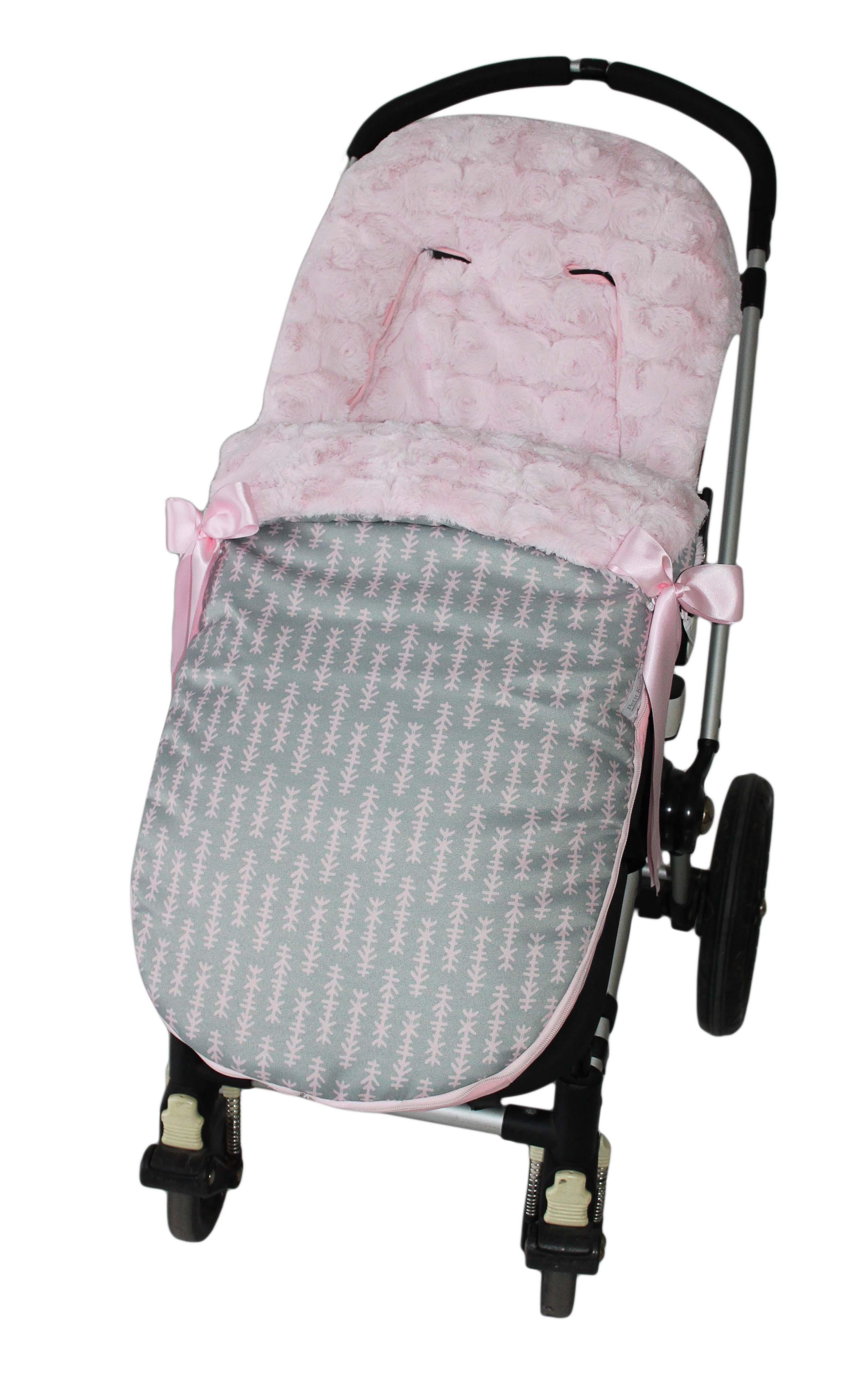 saco universal invierno flechas rosa pelo roseton rosa sacouniversalinviernoflechas  11000  Sacos silla paseo  Fundas para silla bebe