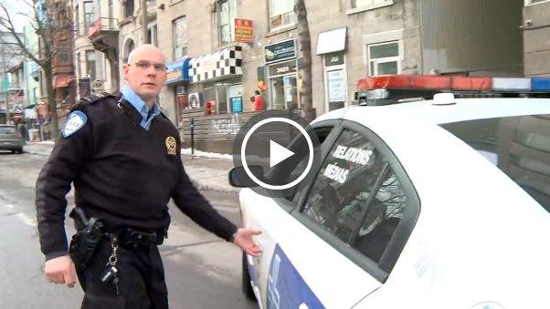 Nos amis de La Presse sont tannés de se faire bousculer par les policiers de Montréal (petit petit gamin.com)