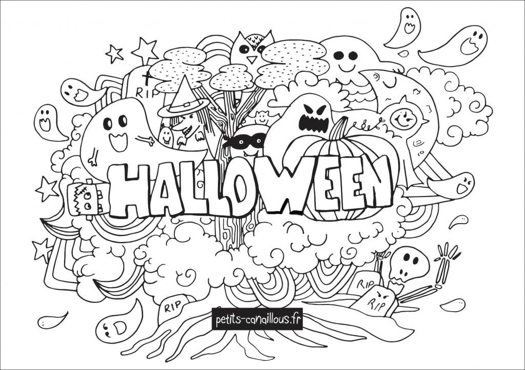 Coloriage Halloween façon doodle