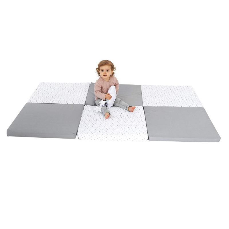 grand tapis d eveil pliable et fabrique en france coloris gris