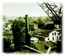 1955 год. Поглед към Централна баня от строящия се Хотел Тримонциум
