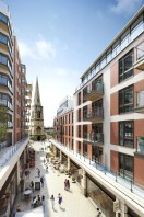 CGI Exterior of Dickens Yard Block F