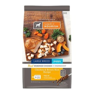 Simply Nourish Chicken & Brown Rice Recipe Large Breed Puppy Dry Dog Food