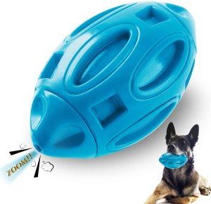 Ucio Squeaky Dog Toys for Aggressive Chewers, Durable Rubber Dog Squeak Toy, Almost Indestructible Interactive Dog Chew Ball Toys, Tough Pet Toy for Medium and Large Breed