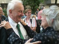 Rolf Hochhuth und Louise Kerz