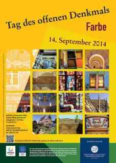 Abbildung: Plakat zum Denkmaltag 2014 © Deutsche Stiftung Denkmalschutz, Bonn