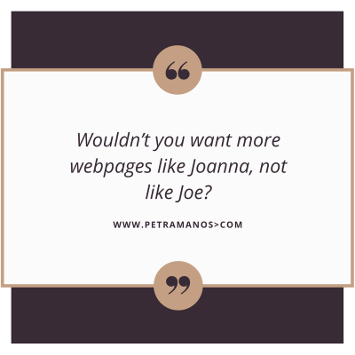 webpages like joanna