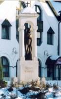 Szent- Borbála - szobor - tatabanyan