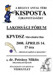 lakossági fórumra meghívó kisposta