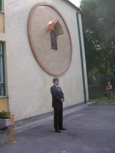 Szent Margit domborművének avatása Tatabányán. Ifj. Dr. Petrássy Miklós beszéde