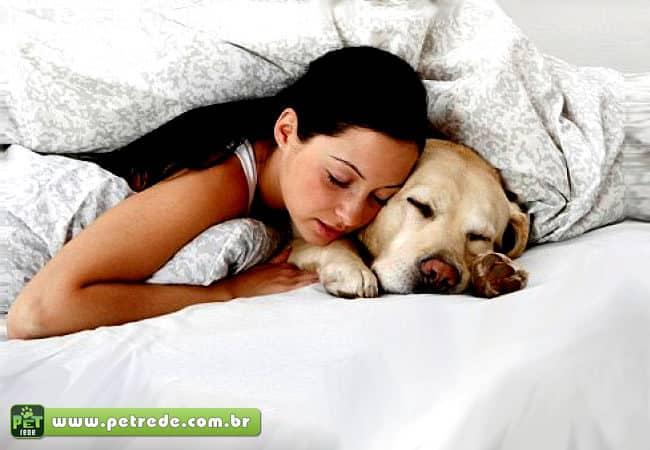 Dormir com animal de estimação pode trazer doenças