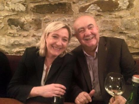 Petr Hannig s Marine Le Pen, předsedkyní francouzské Front National