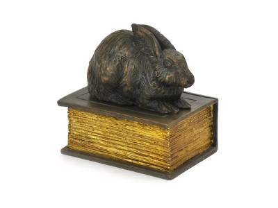 Rabbit on Book Urn