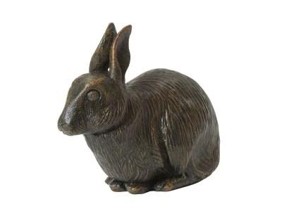 Rabbit Urn – Bronze