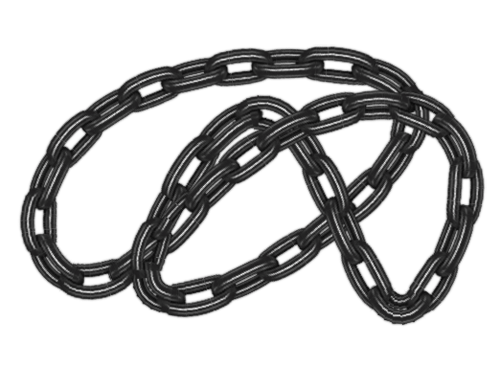 Image of a curved chain