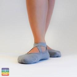 nedrseče nogavice, joga, pilates, sive nogavice