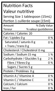 Nutrition Facts -AppleButter-01