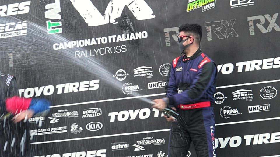 Filippo Bossetti conclude la stagione RX Italia sul podio
