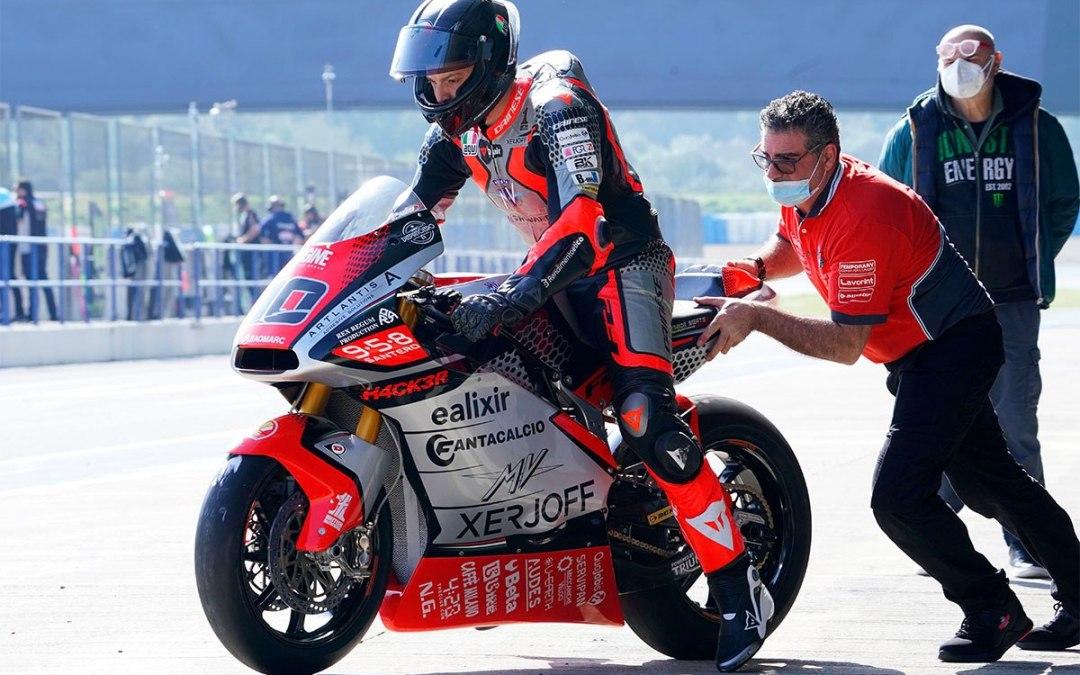 Tommaso Marcon pronto al debutto in Qatar con i colori MV Agusta Forward Racing