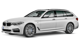 BMW SERIE 5 SW 520d Luxury Touring Bianca Fronte