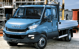 IVECO DAILY CASSONE 35s12 D 6+1 3450 blu fronte