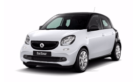 SMART FORFOUR 90 0.9 66kw Turbo Prime Twinamic bianca fronte