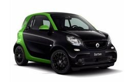 SMART FORTWO Electric Drive 60kw Youngster nero verde fronte